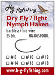 Dry Fly / light Nymph Haken - barbless - fine wire