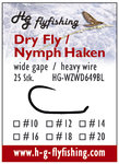 Dry Fly / Nymph Haken - wide gape - barbless - heavy wire